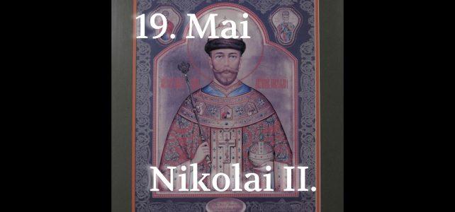 Die Feier des 150. der Geburt des Zaren Nikolai II.